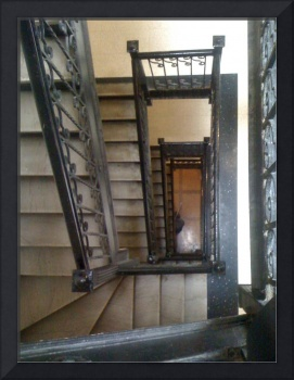 stair case in NYC building