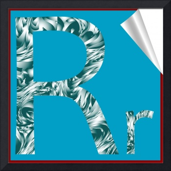 alphabet letter R sticker