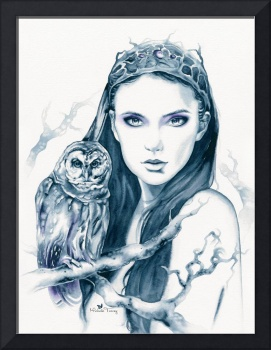 Owl Totem by Michelle Tracey Fantasy Art
