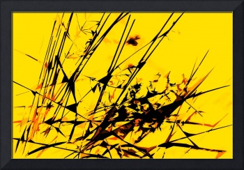 Strike Out Yellow and Black Abstract