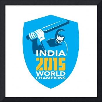 India Cricket 2015 World Champions Shield