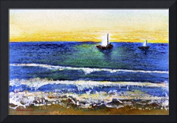 Tropical Sunset Beach Seascape C2