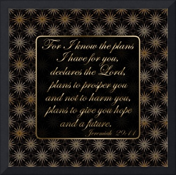 Scripture Art Gold Floral