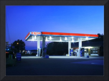 Exxon Station in Lawrenceville, New Jersey