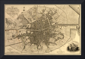 Vintage Map of Dublin Ireland (1797)