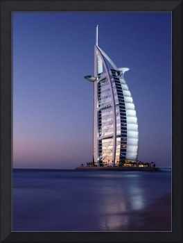 The Burj Al-Arab Or Arabian Tower At Dusk