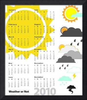 Weather or Not 2010 Wall Calendar Poster