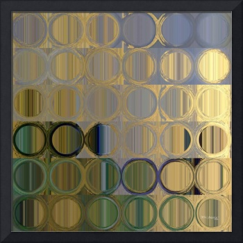 Circles and Squares 50. In Gold Violet