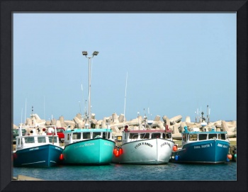 Colorful Boats Row