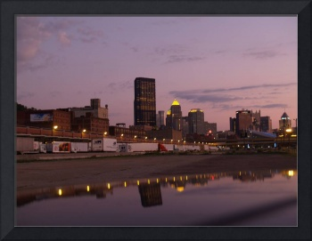 Pittsburgh Skyline at Dusk from the Strip District