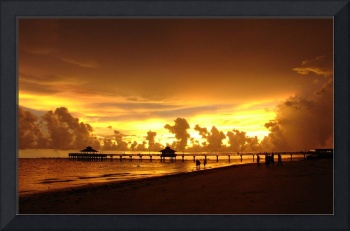 Fort Myers Beach Pier at Sunset