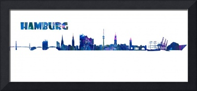 Hamburg Skyline in Clean Scissor Cut Style - Fine