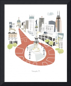 Indianapolis Modern Cityscape Illustration