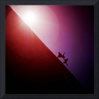 Red purple diagonal surrealist photo