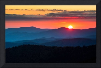 Sunset from Clingman's Dome - Great Smoky Mountain