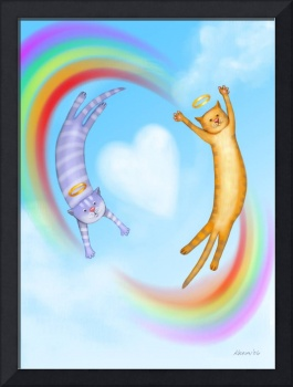 Whimsical Cat Angels