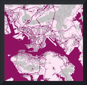 Minimalist Modern Map of Honk Kong, China 5