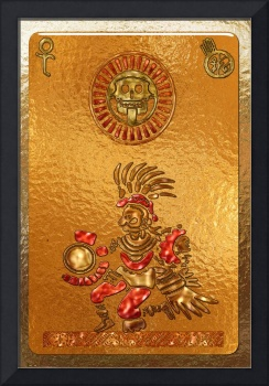 Its Coming AZTEC Symbolic Mexican Native Motif
