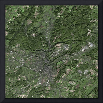 Luxembourg: Satellite Image