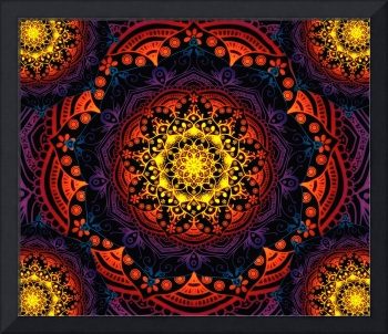 Bohemian Summer  Multi-Coloured Mandala