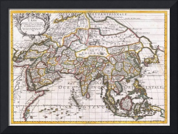 Map of Asia by Giacomo Cantelli