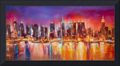 Vibrant New York City Skyline