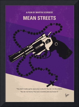 No823 My Mean streets minimal movie poster