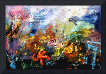 Life in a Coral Reef Original Art by Ginette