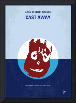 No718 My Cast-Away minimal movie poster