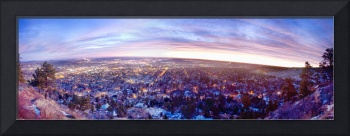 City Lights Boulder Colorado Panorama