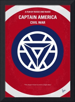 No329 My CAPTAIN AMERICA - 3 minimal movie poster