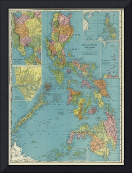 Vintage Map of The Phillipines (1903)