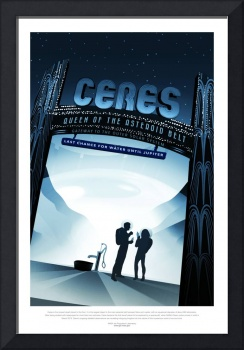 Vintage Ceres Queen of the Asteroid Belt Space