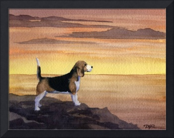 Beagle Sunset