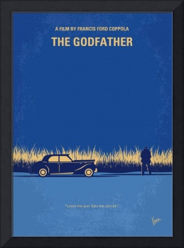 No686-1 My Godfather I minimal movie poster