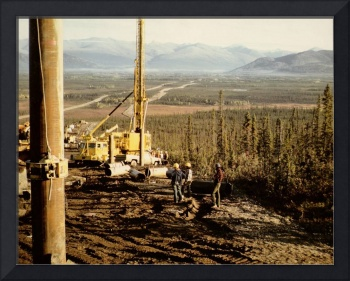 Drill in Prospect Creek Valley