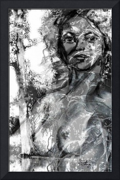 The Lady Of The Swamp - in Grayscale