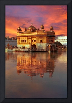 Golden Temple Red Sunset