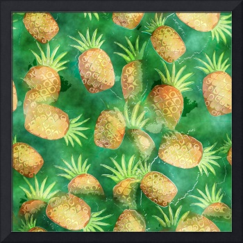 Watercolour Pineapples