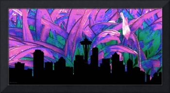 Decorative Skyline Abstract  Seattle T1115Y
