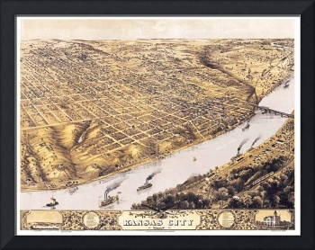 Kansas City Missouri Panoramic Map