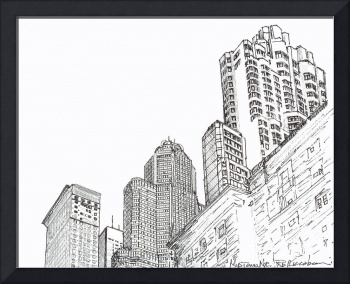 Three Towers Midtown Manhattan by RD Riccoboni
