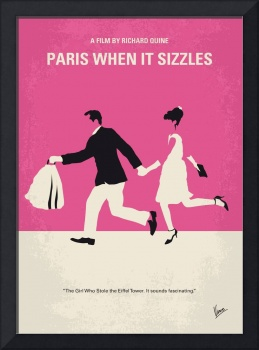 No785 My Paris When it Sizzles minimal movie poste