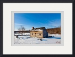 Joseph Smith Log Home (winter) by D. Brent Walton