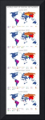 The World Map of Social Networks