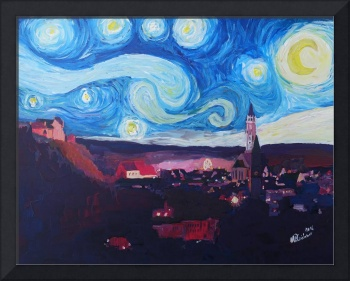 Starry Night in Landshut - Van Gogh Inspirations