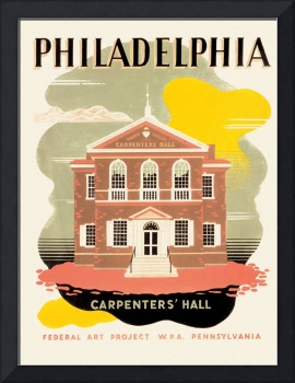 Philadelphia Carpenters' Hall Poster (1936-41)