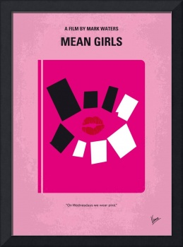 No458 My Mean Girls minimal movie poster