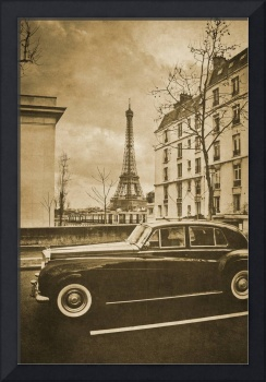 Vintage retro Paris with Eiffel Tower 8