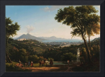 Alexandre-Hyacinthe Dunouy~View of Naples from Cap